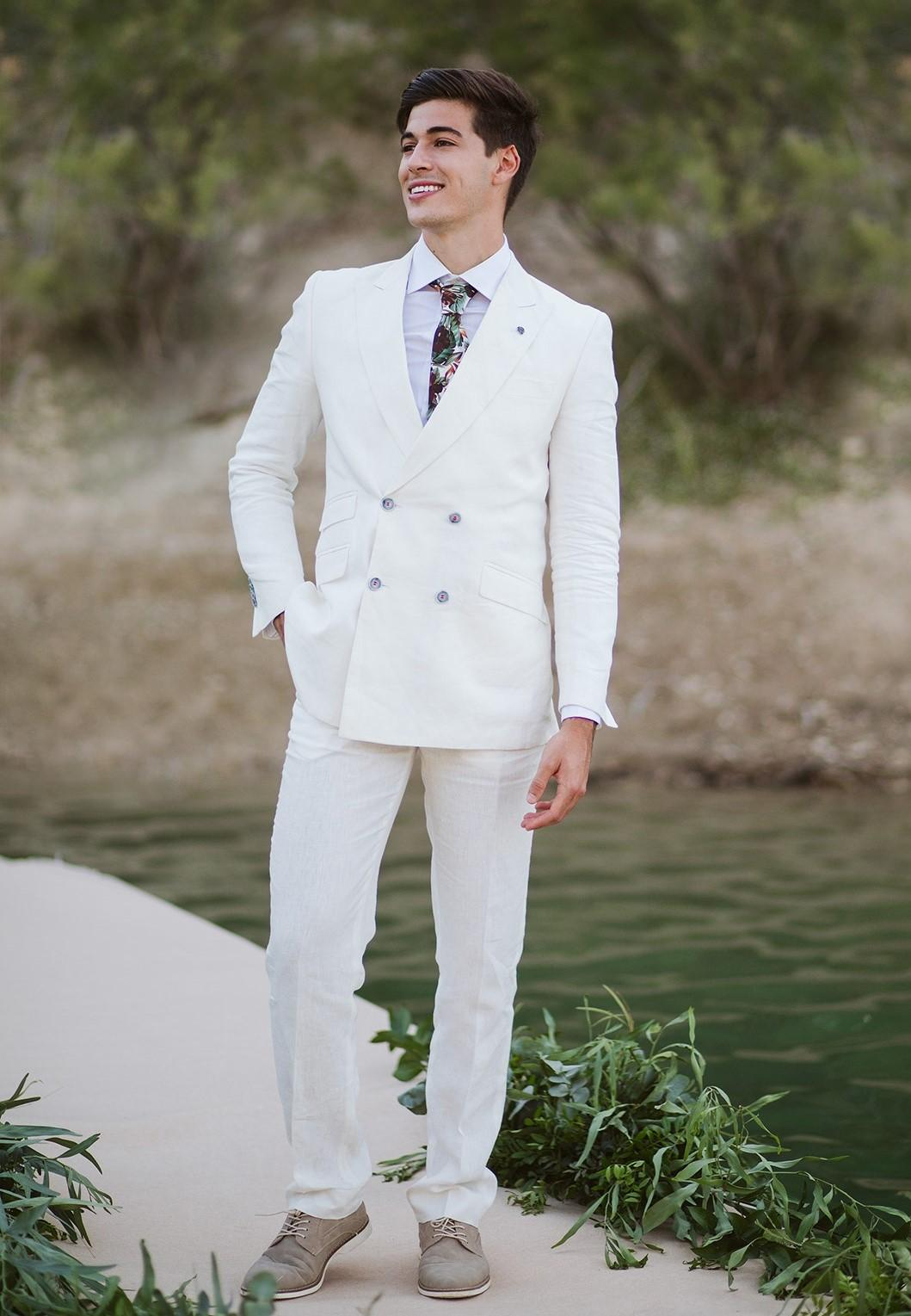White suit groom